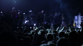 Anonymous crowd at  a pop concert Royalty Free Stock Photography