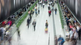 Anonymous crowd timelapse. Anonymous crowd timelapse in train station stock video footage