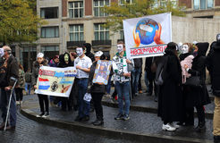 Anonymous demonstration in Amsterdam, Holland Royalty Free Stock Photography