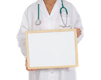Anonymous doctor whit billboard Stock Photo