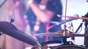 Anonymous Drummer Drumming on Stage 4k stock footage
