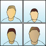 Anonymous Faces. A fully scalable vector illustration of four Anonymous Faces royalty free illustration