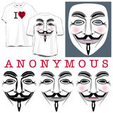 Anonymous Faces and T-shirts Stock Photo