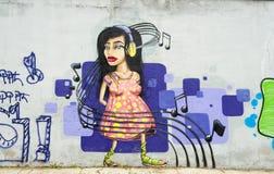 Anonymous graffiti image Stock Photography