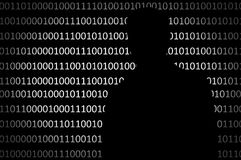 Anonymous hacker without face and binary code background Stock Photography