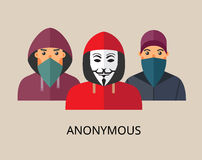 Anonymous hacker team Royalty Free Stock Photo