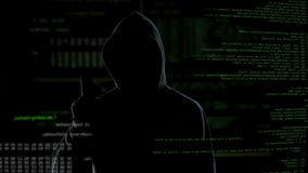 Anonymous hacker threatens world security, private data without protection. Stock footage stock video