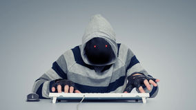 Anonymous hackers on the computer Stock Images
