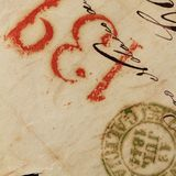 Anonymous handwritten real old letters from Spain Royalty Free Stock Images
