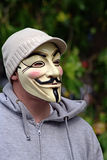 Anonymous at Hyde Park Corner 6. This is Anonymous, the symbol of the ones who protest on (or about) the Internet Stock Photography