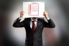 Anonymous interview Stock Photo