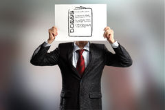 Anonymous interview Stock Image