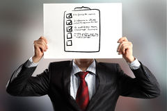 Anonymous interview Stock Images