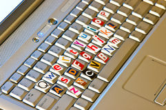 Anonymous keyboard concept Royalty Free Stock Image