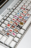 Anonymous keyboard concept Stock Photos
