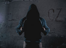 Anonymous man with hooded sweater Royalty Free Stock Photo