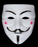 Anonymous mask. On a black background stock photography