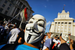 Anonymous mask protest Stock Image