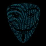 Anonymous mask typography Stock Photography