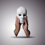 Anonymous mask. On white background royalty free stock image