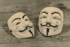 Anonymous mask Royalty Free Stock Photo