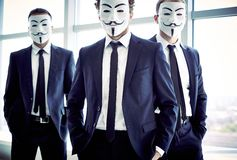 Anonymous men Royalty Free Stock Photo