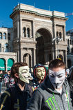 Anonymous in Milan #2 Royalty Free Stock Photos