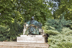 Anonymous Notary of King Bela statue in Budapest, Hungary. Royalty Free Stock Photography
