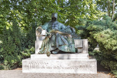 Anonymous Notary of King Bela statue in Budapest, Hungary. Stock Photography