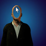 Anonymous. PC User with Pointer Royalty Free Stock Images