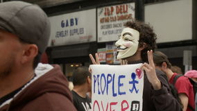 Anonymous For Peace stock video