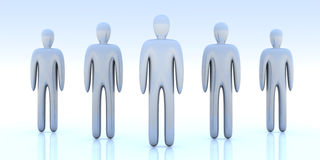 Anonymous People. 3D Illustration Stock Image