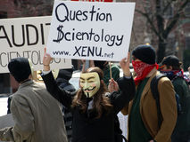 Anonymous protester Stock Photos