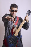 Anonymous rock star Stock Photography