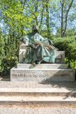 Anonymous Statue near Vajdahunyad castle in Budapest, Hungary stock photo