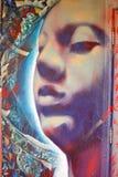 Street art face mural stock images
