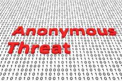 Anonymous Threat Royalty Free Stock Photo