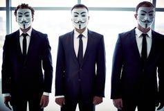 Anonymous trio Royalty Free Stock Image