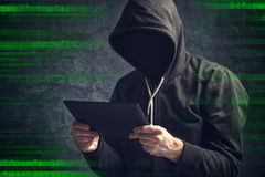 Anonymous unrecognizable man with digital tablet computer Stock Photography