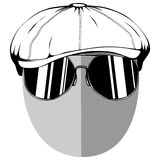 Anonymous 1. Vector illustration anonymous in cap with sunglasses on white background Royalty Free Stock Image