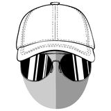 Anonymous 2. Vector illustration anonymous in cap with sunglasses on white background Royalty Free Stock Photos