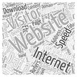 Anonymous Visitor Marketing word cloud concept  background Stock Image