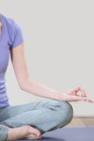 Anonymous Woman Meditating Royalty Free Stock Photos