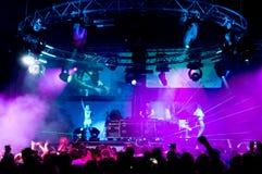 anonymt koppla av för konsertflickafolk Royaltyfria Bilder