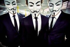 Anonymt maskerat folk Royaltyfria Bilder