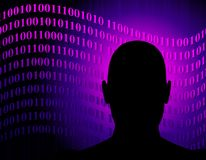 anonymt nätverk för binär kod Arkivbild