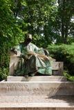 Anonymus雕象在城市公园在布达佩斯,匈牙利 免版税库存图片
