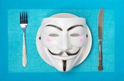 Anonymus στην έννοια Στοκ φωτογραφία με δικαίωμα ελεύθερης χρήσης