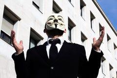 Anonymus-Geschäftsmann geknickt Stockfotografie