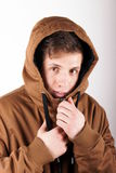 Anorak. Portrait of a young man with anorak Royalty Free Stock Images